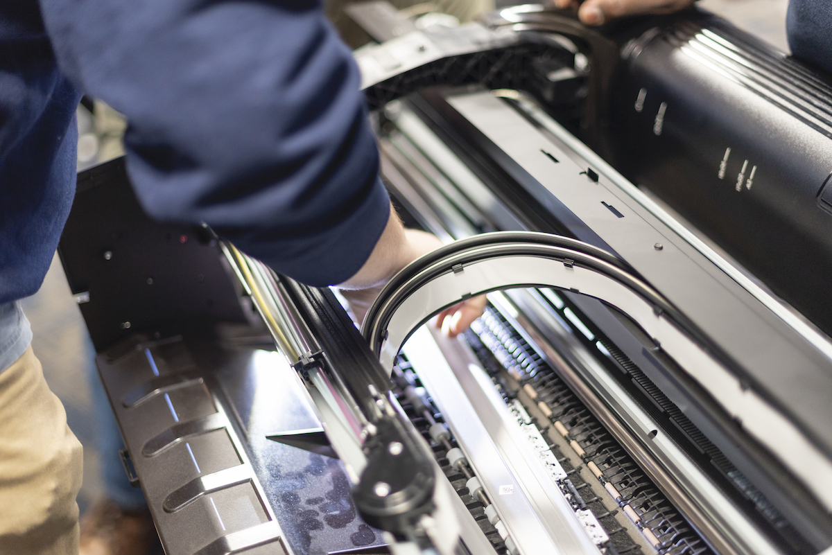 servicing a large printer