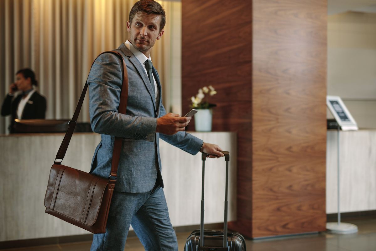 Business man in hotel