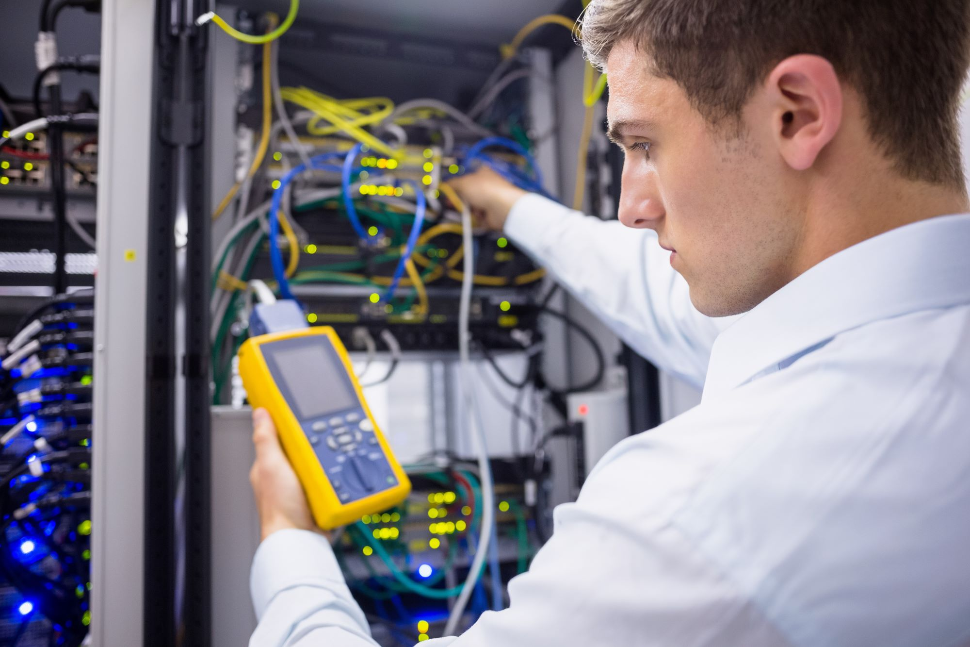 A team of technicians works on providing managed services solutions